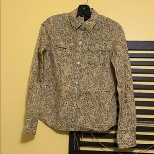 Marc Jacobs printed button down shirt size 4